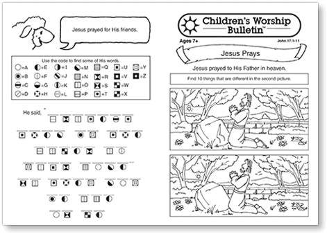 Children's Worship Bulletins older age group sample