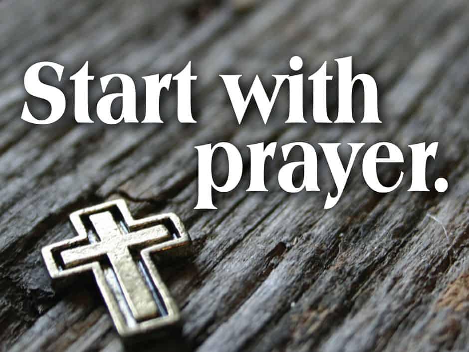 Sermon Preparation Start With Prayer